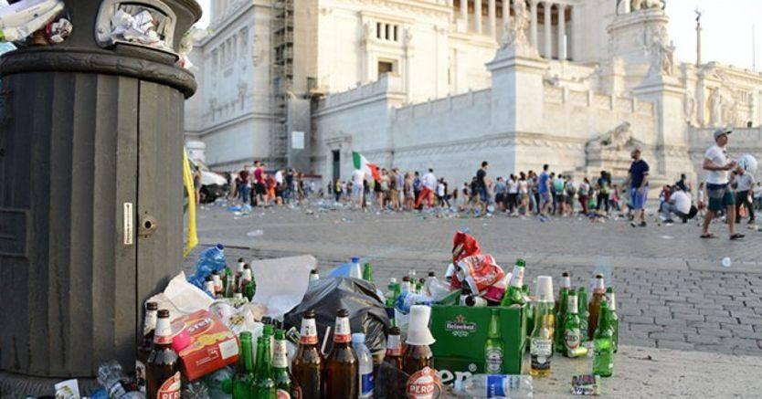 Roma: il malcontento dei rifiuti